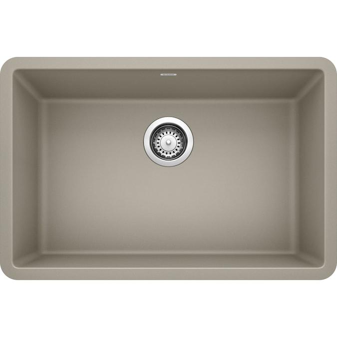 blanco precis undermount 26 8125 in x 17 75 in truffle brown single bowl kitchen sink