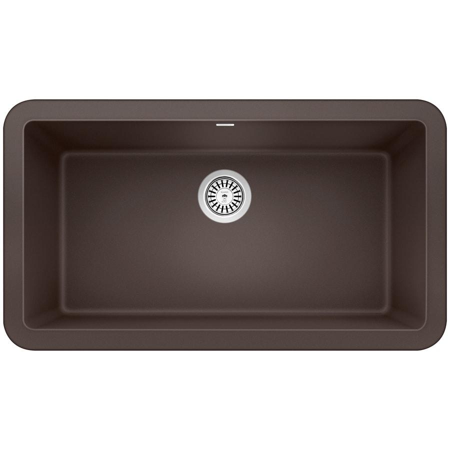 Kitchen Sink 19 X 33: BLANCO Ikon 33-in X 19-in Cafe Brown Single-Basin Standard