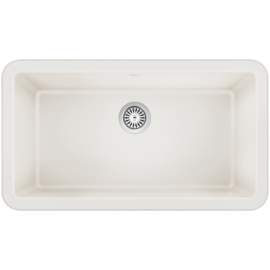Blanco Ikon 33 In X 19 In White Single Basin Standard