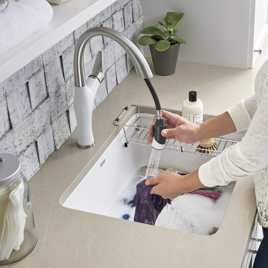 Blanco 22 In X 25 In 1 Basin White Undermount Composite