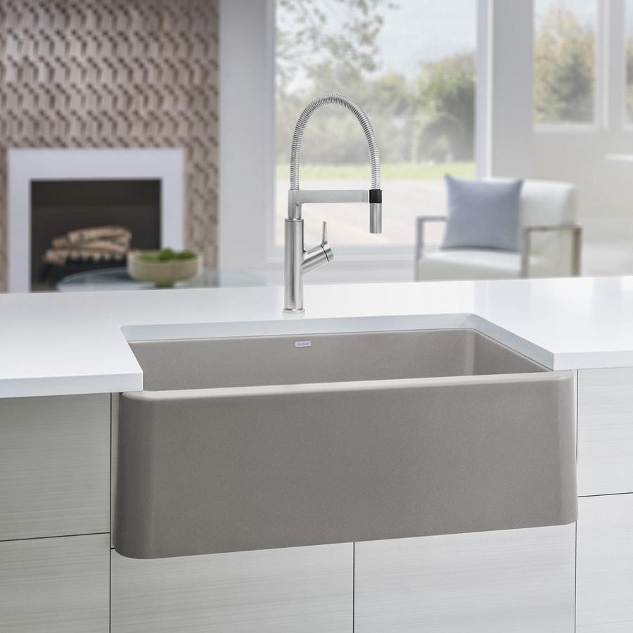 Kitchen Sink 19 X 33: BLANCO Ikon 33-in X 19-in Truffle (Brown) Single-Basin