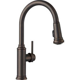 Exceptionnel BLANCO Empressa Oil Rubbed Bronze 1 Handle Pull Down Kitchen Faucet