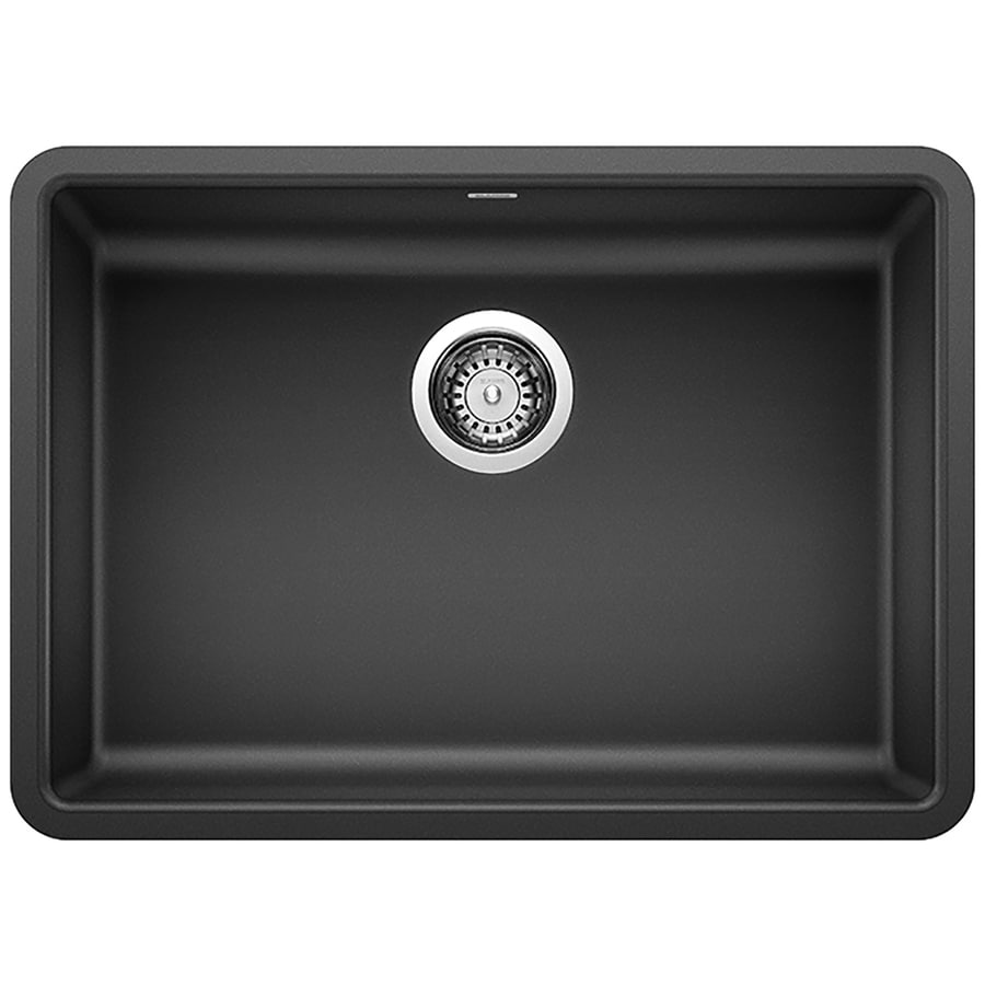 Blanco Precis Undermount 25 In X 18 In Anthracite Black Single Bowl Kitchen Sink In The Kitchen Sinks Department At Lowes Com