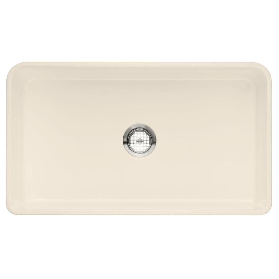Kitchen Sink 19 X 33: BLANCO Cerana Ii 33-in X 19-in Biscuit (Off-white) Single