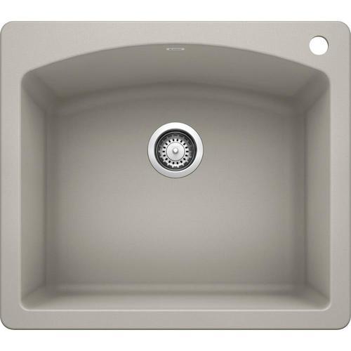 Blanco Diamond 25 In X 22 In Concrete Gray Single Bowl