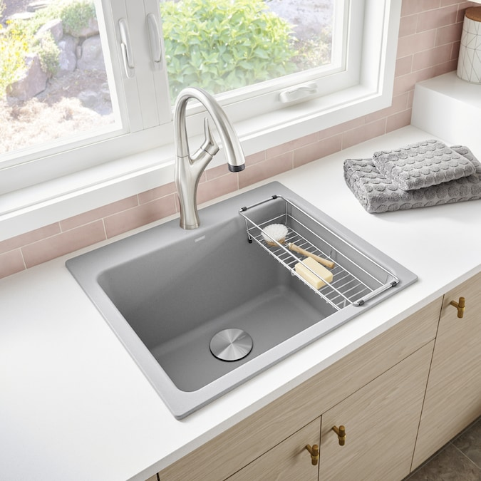 Blanco 22 In X 25 In 1 Basin Concrete Gray Undermount Laundry Sink In The Utility Sinks Department At Lowes Com