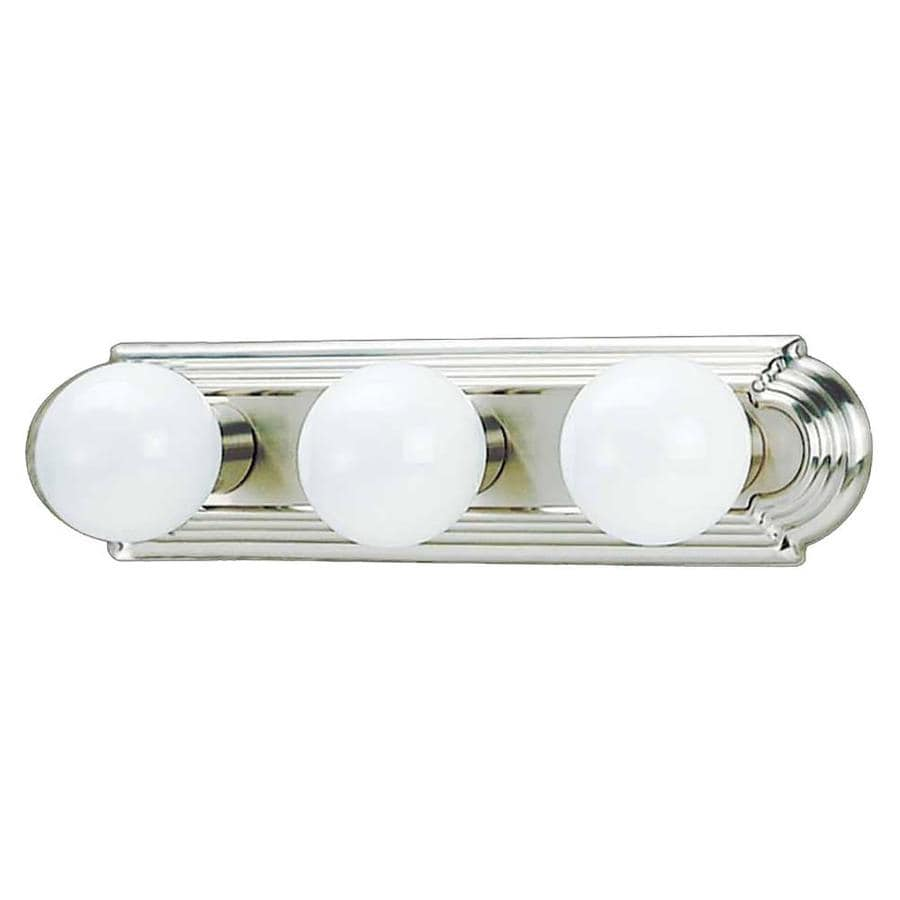 Vanity Lights In Brushed Nickel : Shop Gratz 3-Light 4.5-in Brushed Nickel Vanity Light at Lowes.com