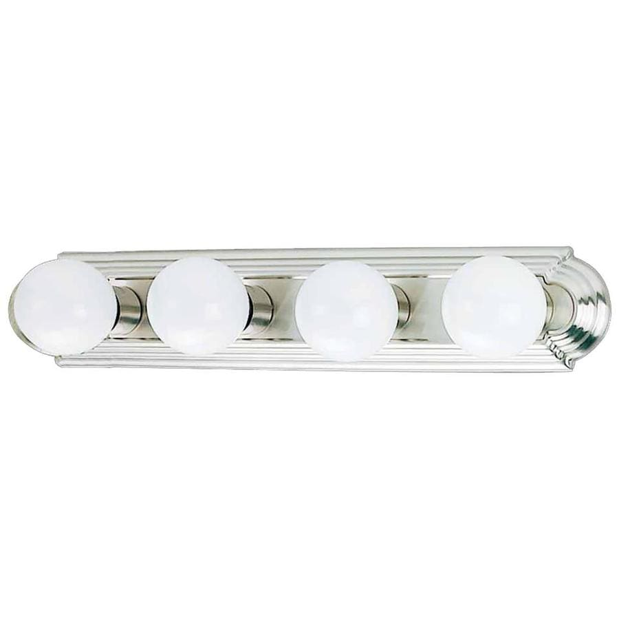 Vanity Lights In Brushed Nickel : Shop Gratz 4-Light 4.5-in Brushed Nickel Vanity Light at Lowes.com