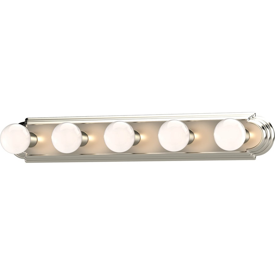 Vanity Lights In Brushed Nickel : Shop Gratz 5-Light 4.5-in Brushed Nickel Vanity Light at Lowes.com