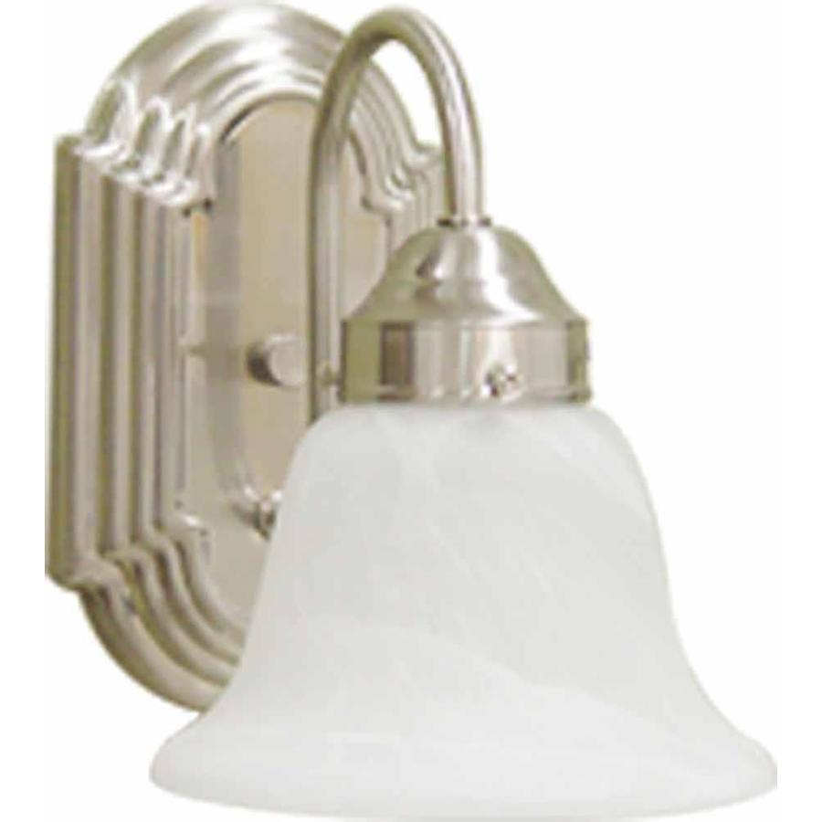 Caballo 1-Light 8.5-in Brushed Nickel Vanity Light