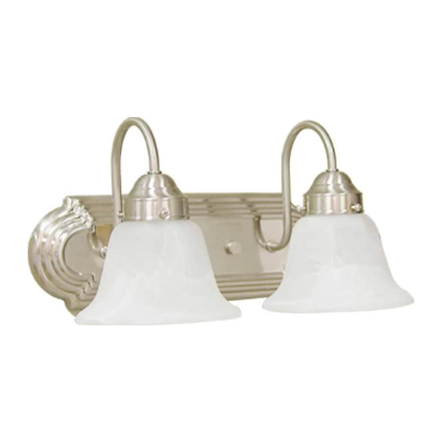2 Light Vanity Light Brushed Nickel : Shop Caballo 2-Light 8-in Brushed Nickel Vanity Light at Lowes.com