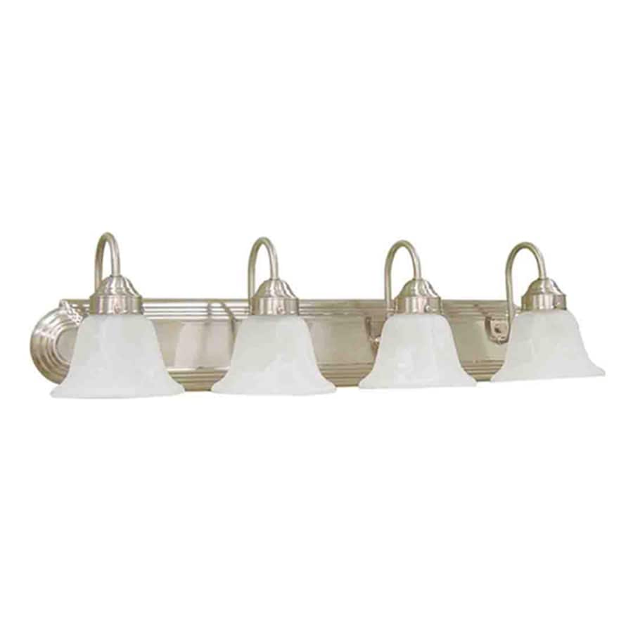 Caballo 4-Light 8-in Brushed Nickel Vanity Light