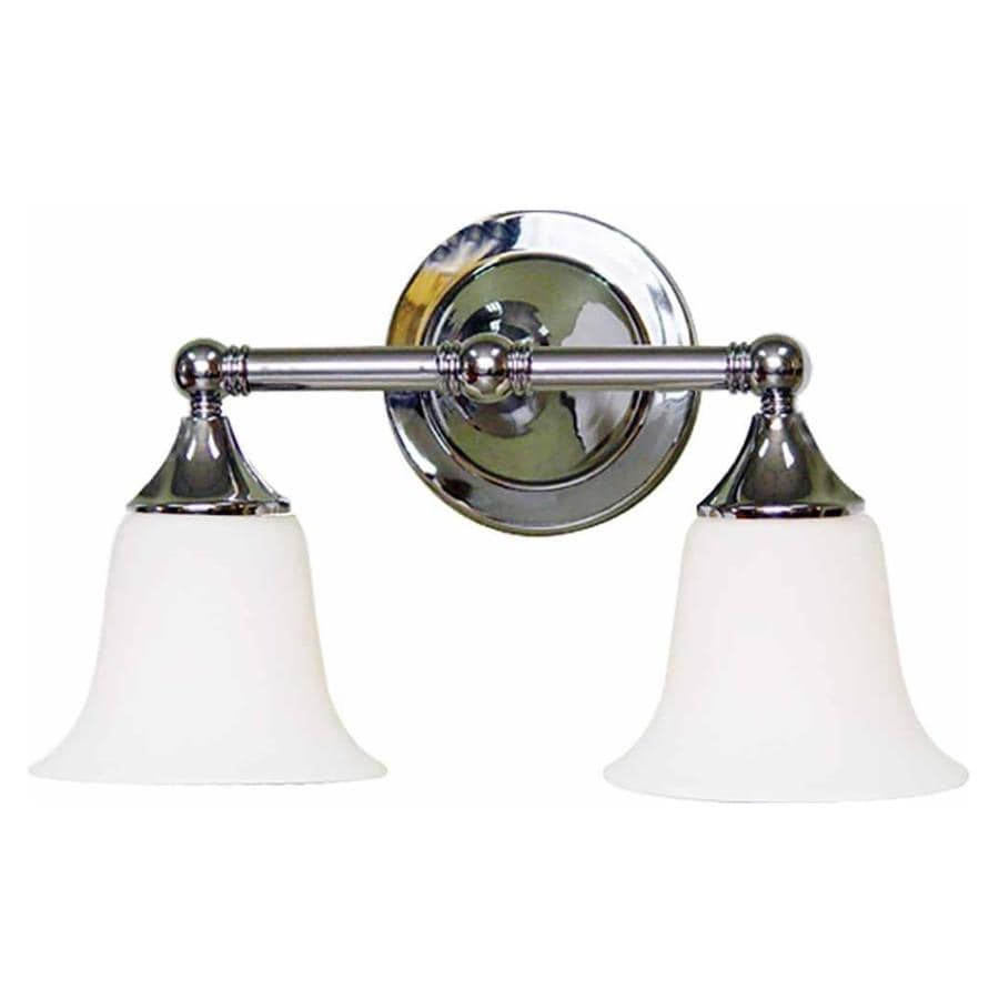 2 Light Vanity Light Brushed Nickel : Shop Idalou 2-Light 9.25-in Brushed Nickel Vanity Light at Lowes.com