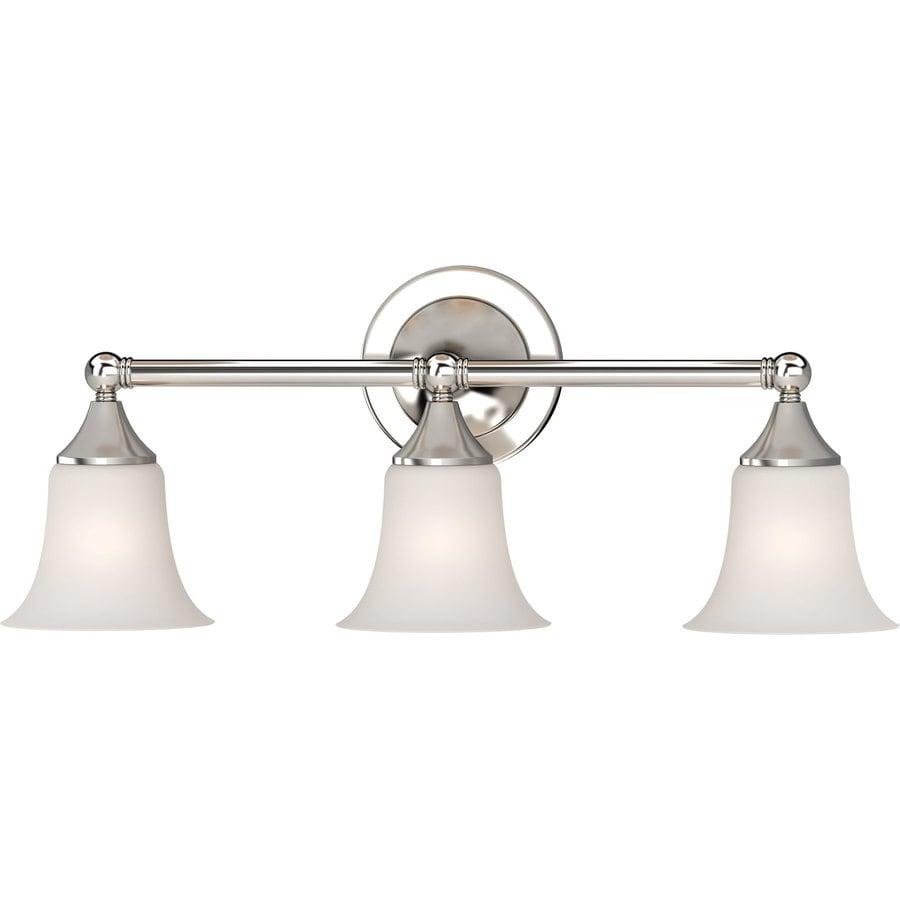 Idalou 3-Light 9.25-in Brushed Nickel Vanity Light