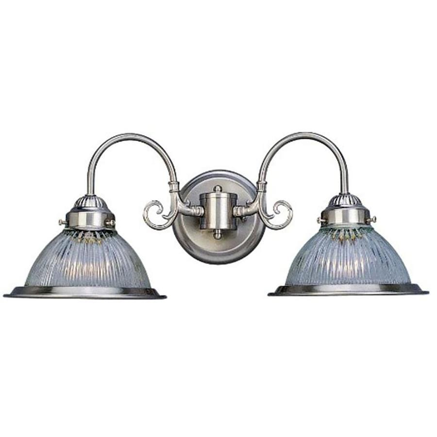 Shop Woodlyn 2-Light 8.25-in Brushed Nickel Vanity Light at Lowes.com