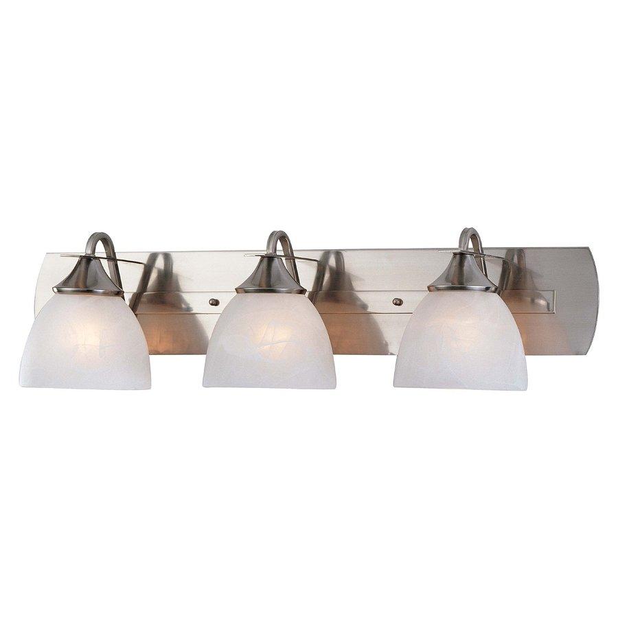 Sebeka 3-Light 8.25-in Brushed Nickel Vanity Light
