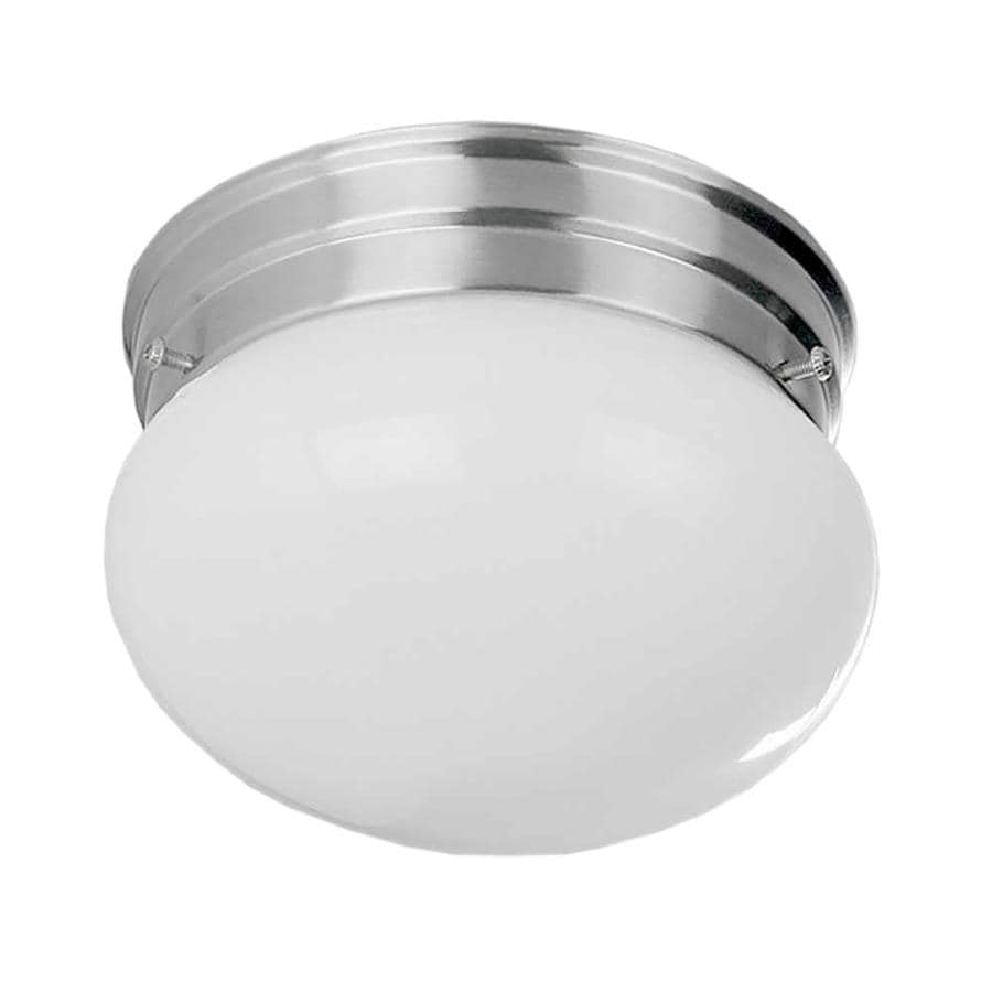 Glynn 7-in W Brushed Nickel Flush Mount Light