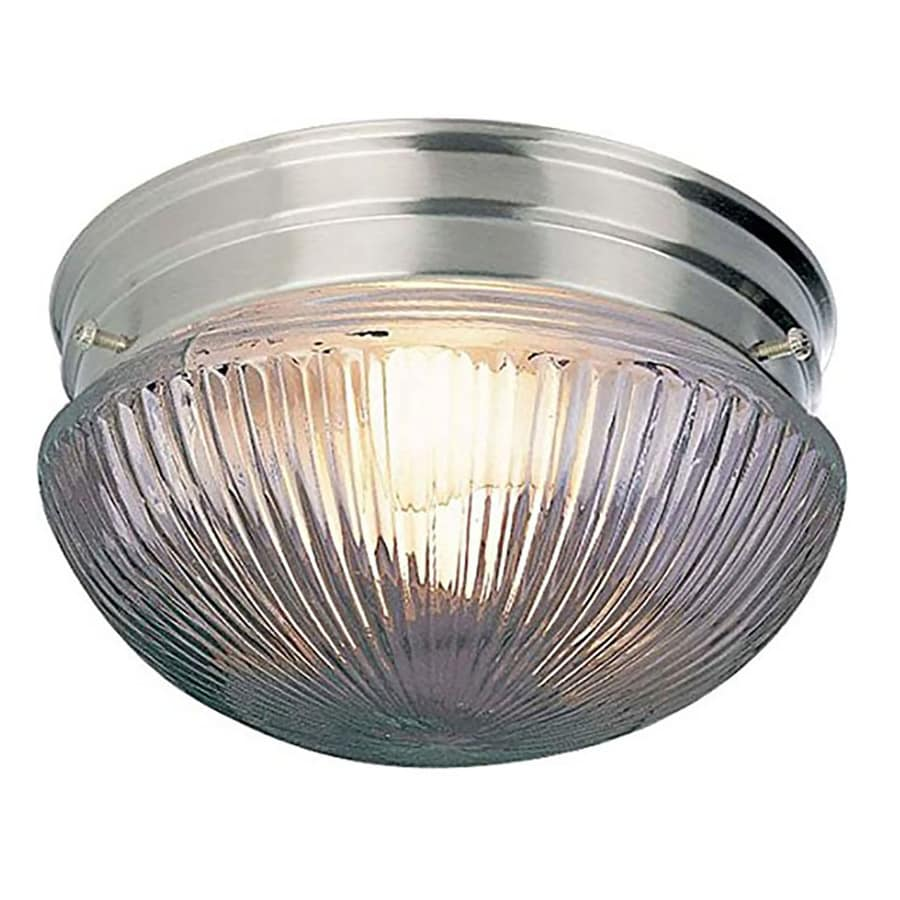 Seibert 7-in W Brushed Nickel Flush Mount Light