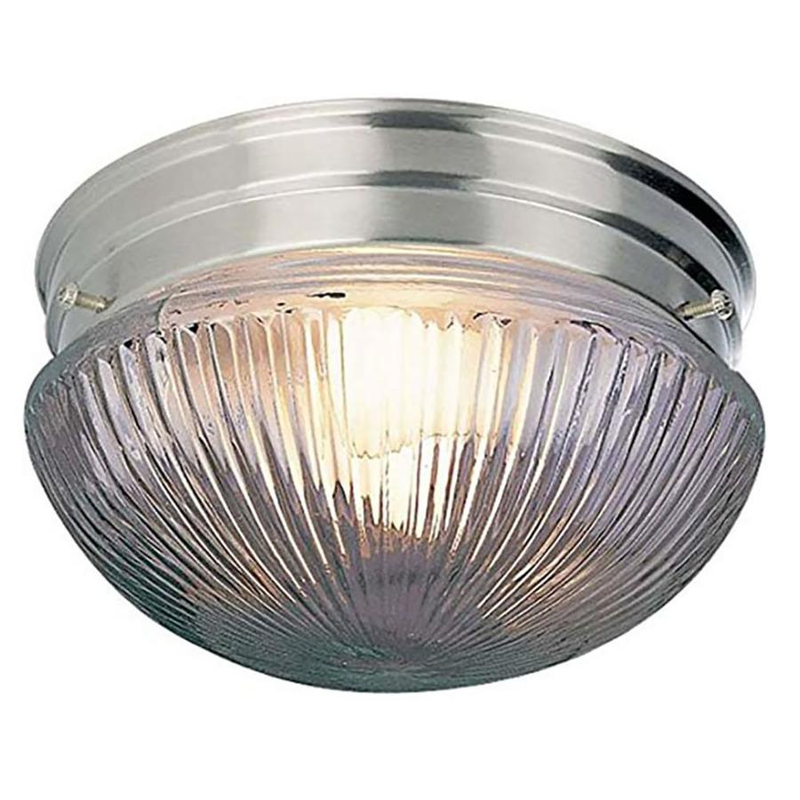 Seibert 9-in W Brushed Nickel Flush Mount Light