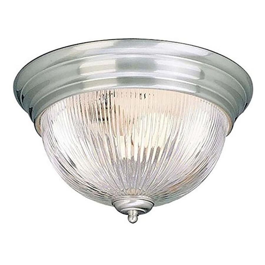 Amsden 13-in W Brushed Nickel Flush Mount Light