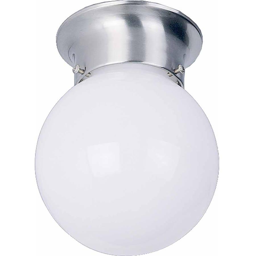 Wassaic 6-in W Brushed Nickel Standard Flush Mount Light
