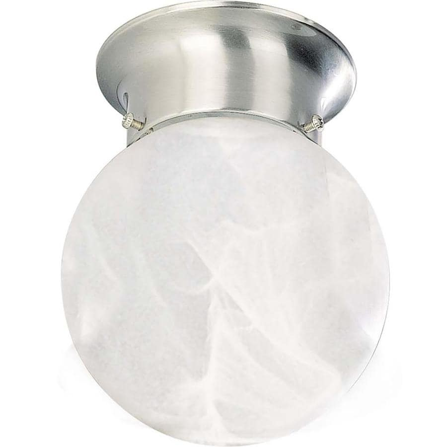 Closter 6-in W Brushed Nickel Ceiling Flush Mount Light