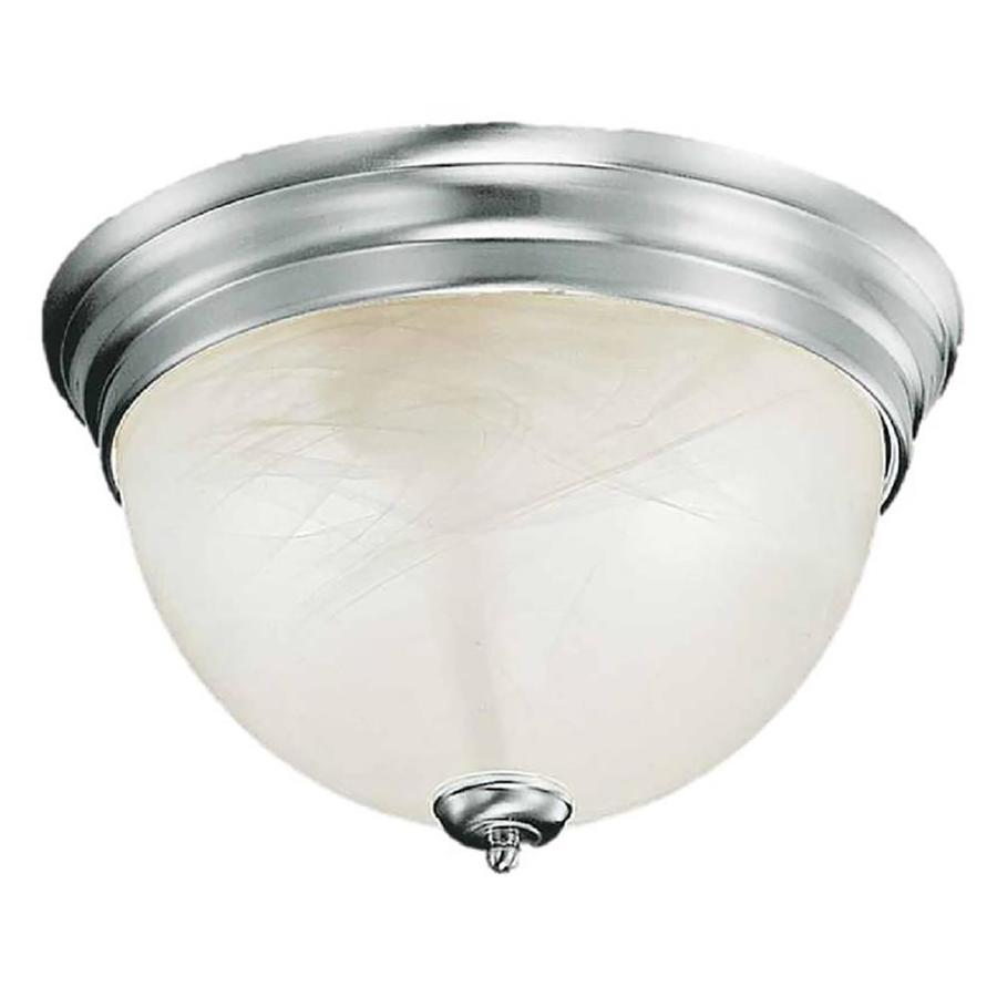 Hurlock 13-in W Brushed Nickel Flush Mount Light