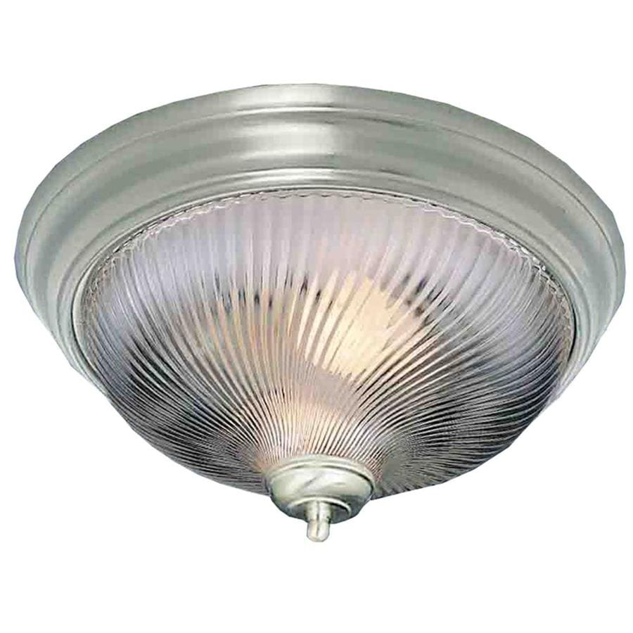 Amsden 11-in W Brushed Nickel Flush Mount Light