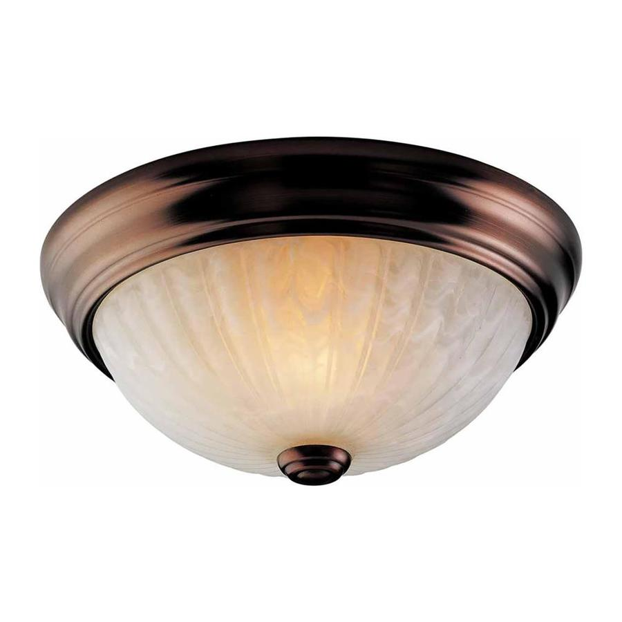 Rockholt 11-in W Antique Bronze Flush Mount Light