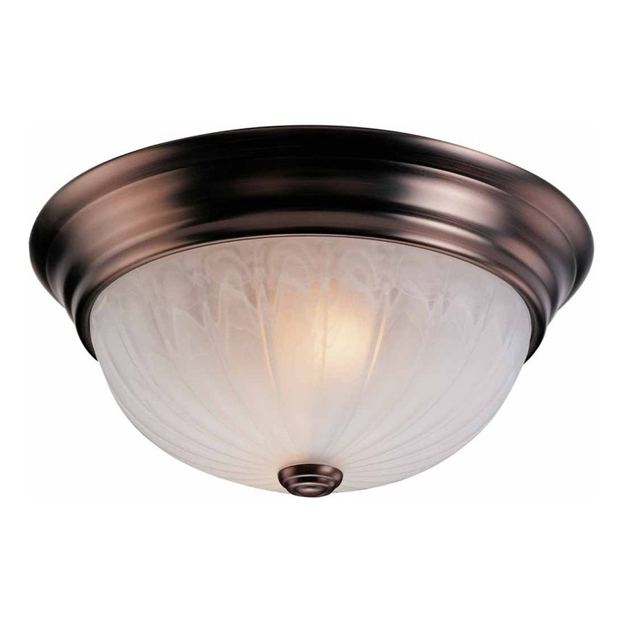 Rockholt 15-in W Antique Bronze Flush Mount Light