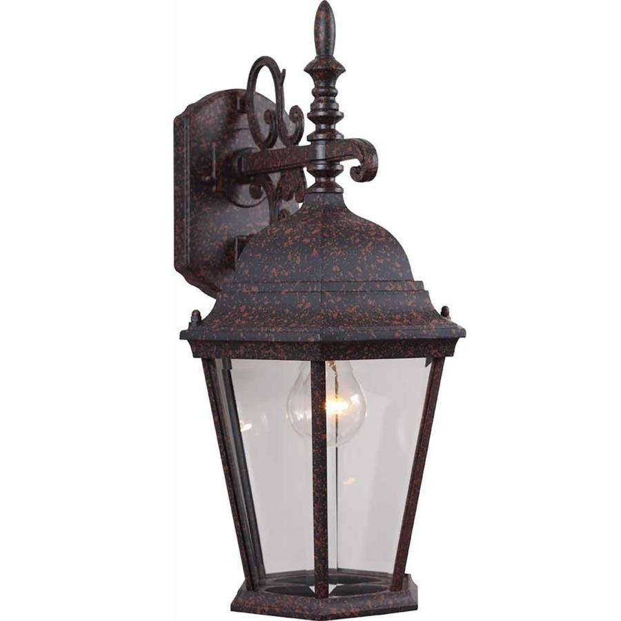 Slayton 18.5-in H Rust Outdoor Wall Light