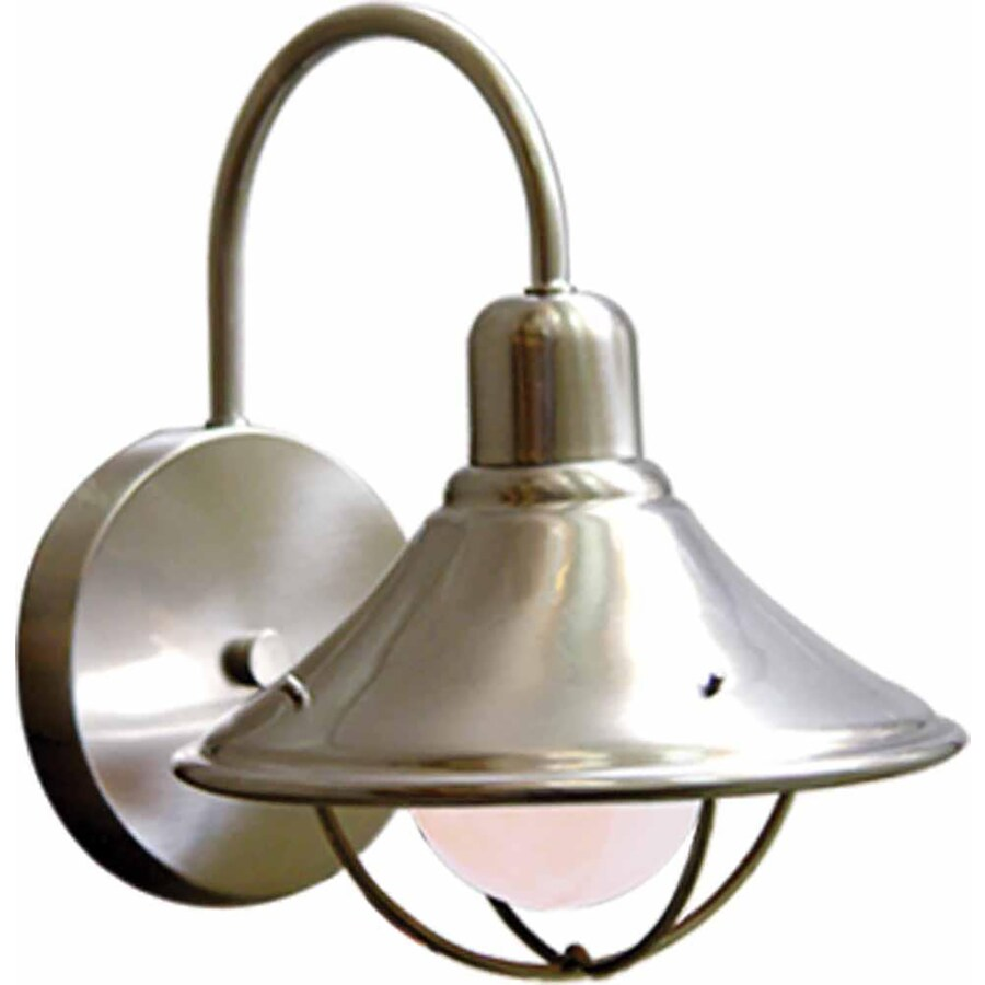 Vonormy 7.5-in H Brushed Nickel Outdoor Wall Light