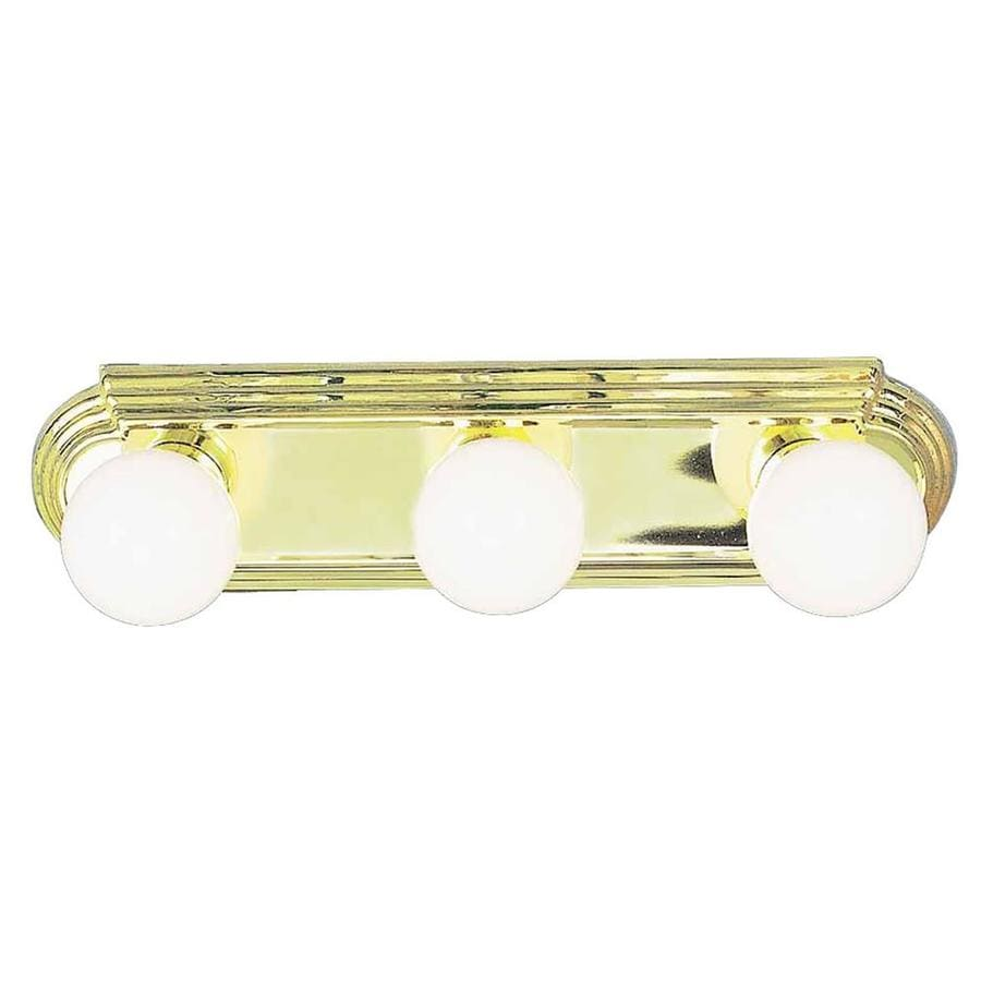 Vanity Lighting Polished Brass : Shop Gratz 3-Light 4.5-in Polished Brass Vanity Light at Lowes.com