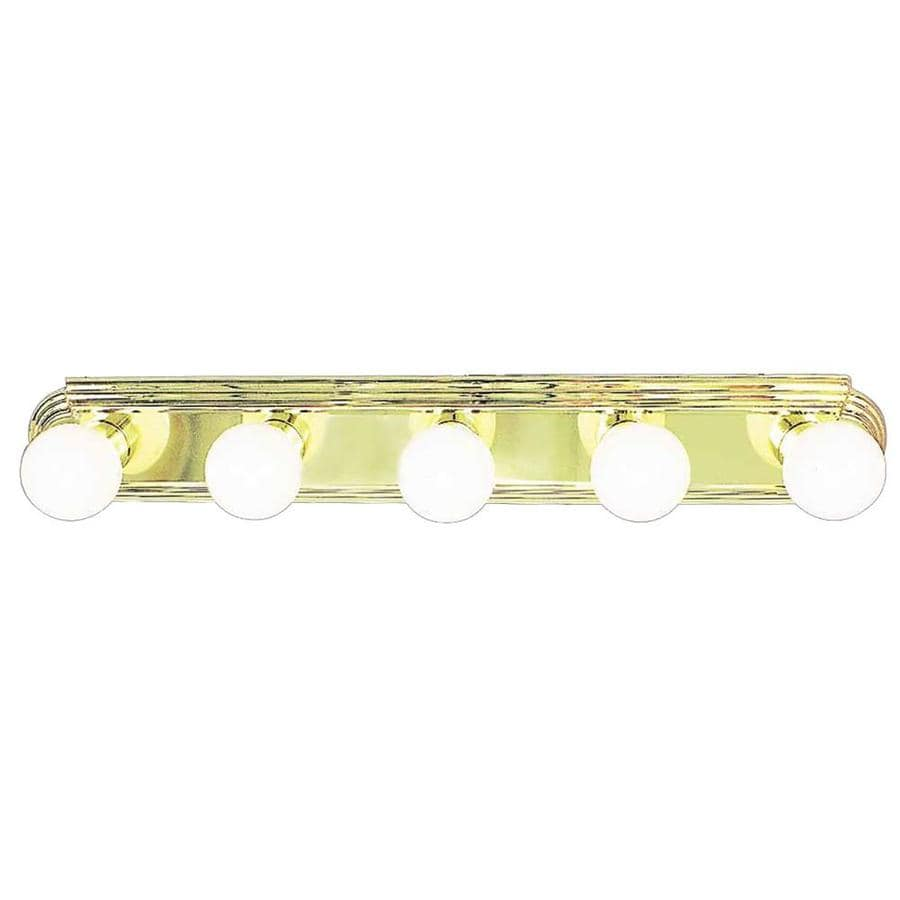 Gratz 5-Light Polished Brass Vanity Light