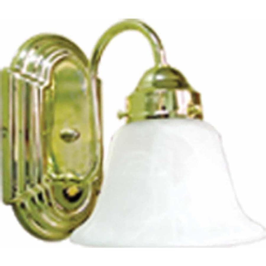 Caballo 1-Light 8.5-in Polished Brass Vanity Light