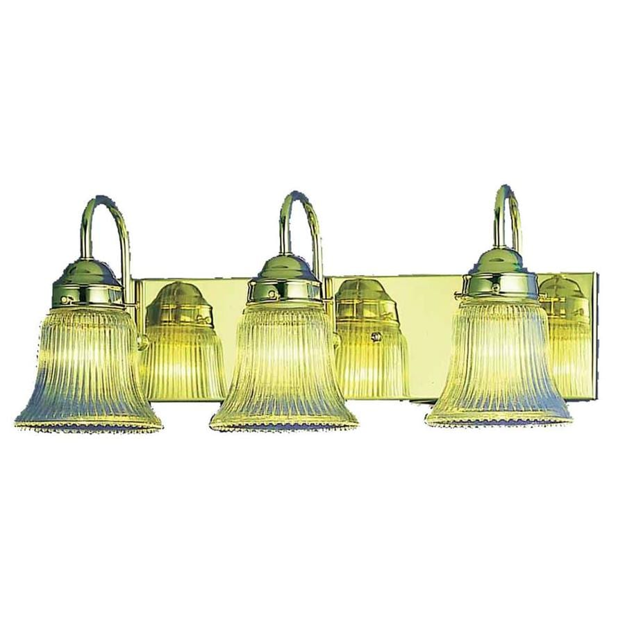 Shop Citra 3-Light 8-in Polished Brass Vanity Light at Lowes.com