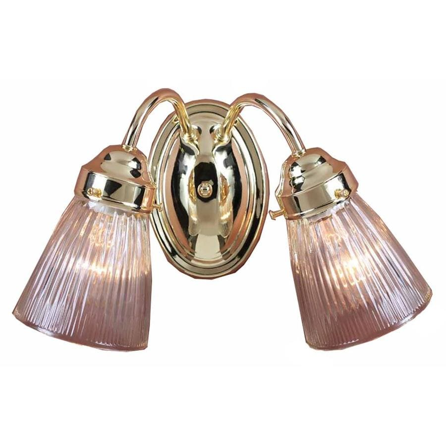 Shop Kenvil 2-Light 8.25-in Polished Brass Vanity Light at Lowes.com