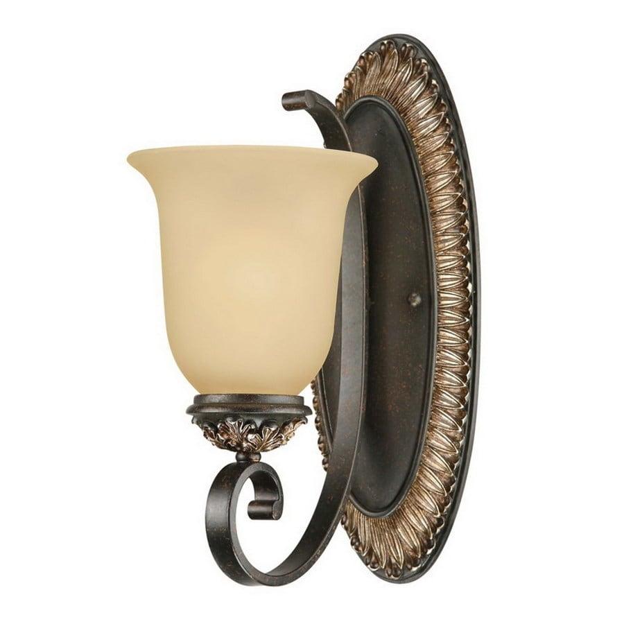 Geissler 1-Light Vintage Bronze and Antique Gold Vanity Light