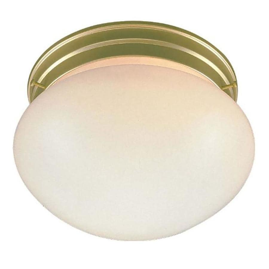 Glynn 9-in W Polished Brass Standard Flush Mount Light