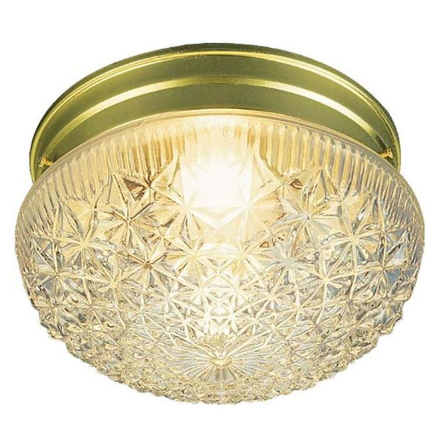 Trenary 6.75-in W Polished Brass Standard Flush Mount Light