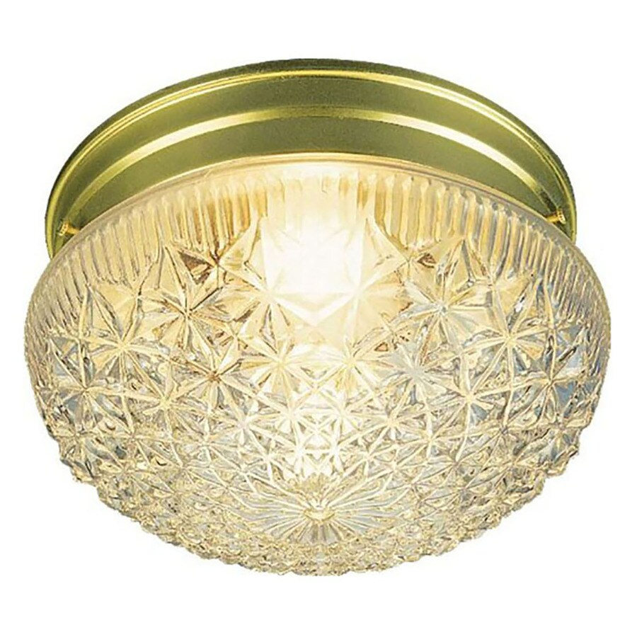 Trenary 9.5-in W Polished Brass Flush Mount Light