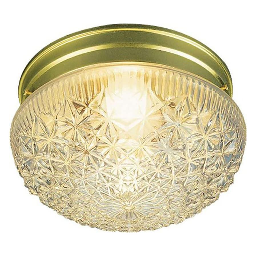 Trenary 9.5-in W Polished Brass Ceiling Flush Mount Light