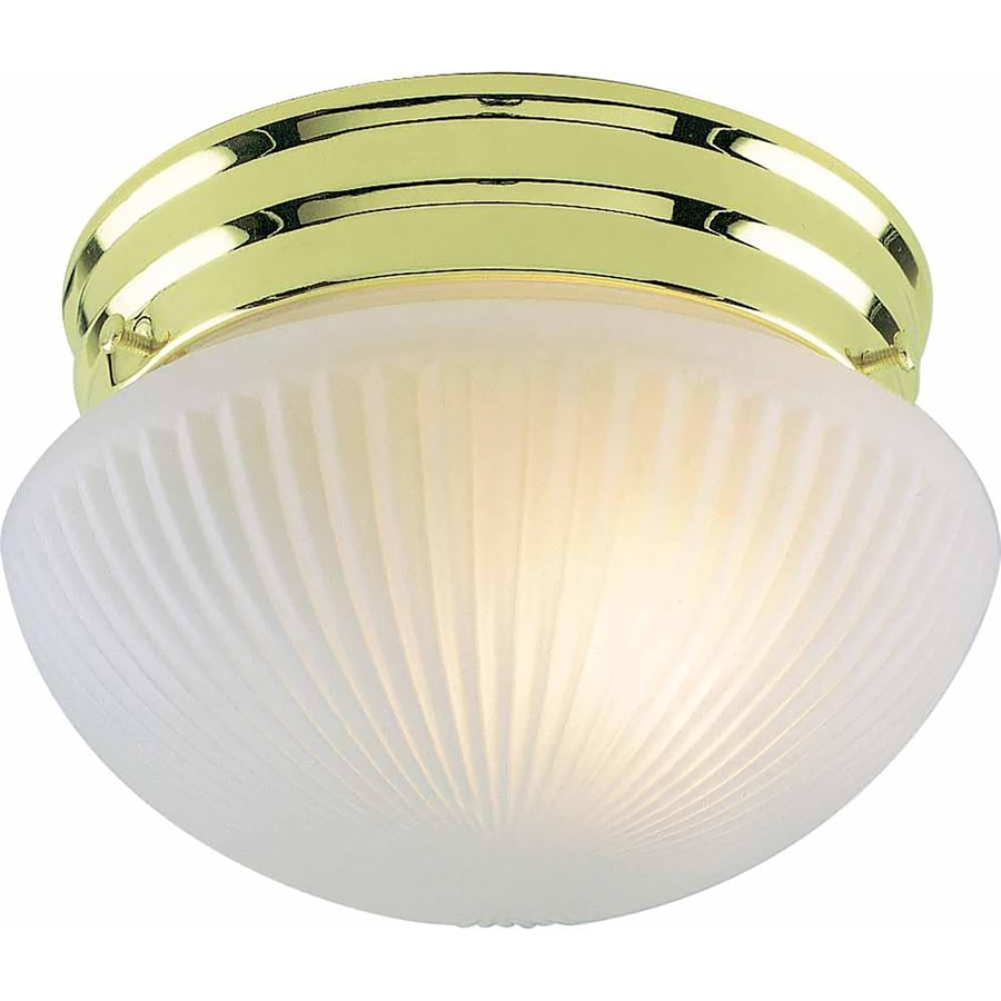 Bowden 7-in W Polished Brass Standard Flush Mount Light