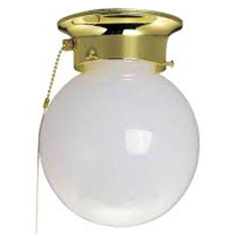 Wassaic 6-in W Polished Brass Flush Mount Light