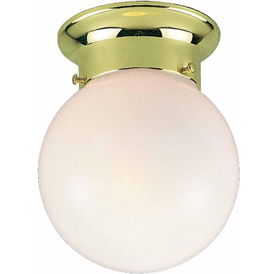 Wassaic 6-in W Polished Brass Flush Mount Light