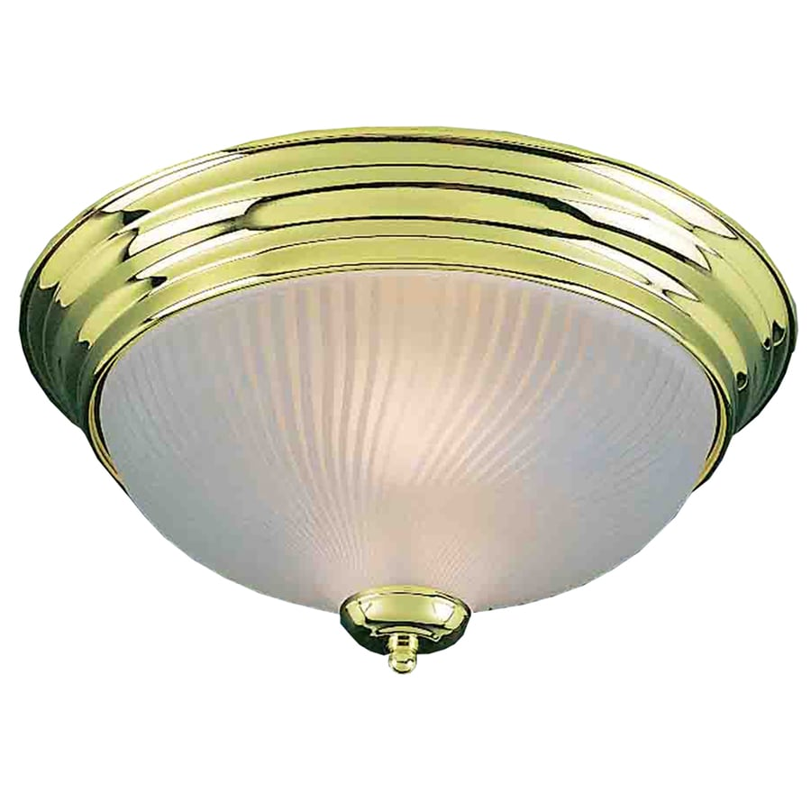 Bowden 11-in W Polished Brass Ceiling Flush Mount Light