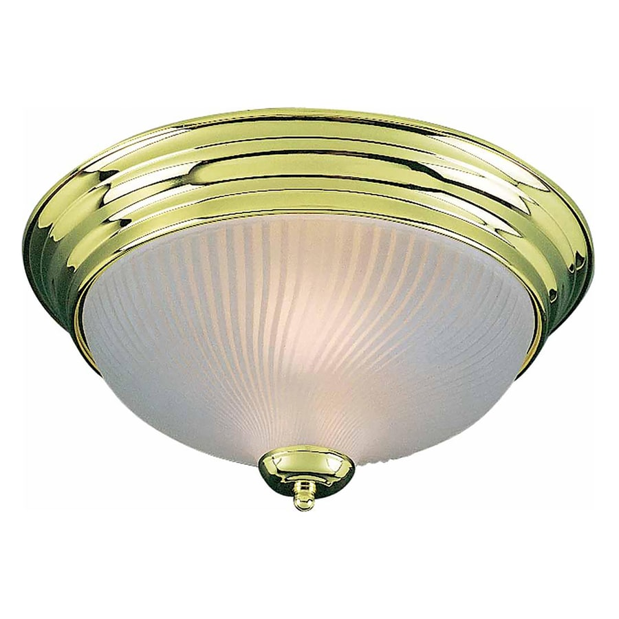 Bowden 13-in W Polished Brass Standard Flush Mount Light