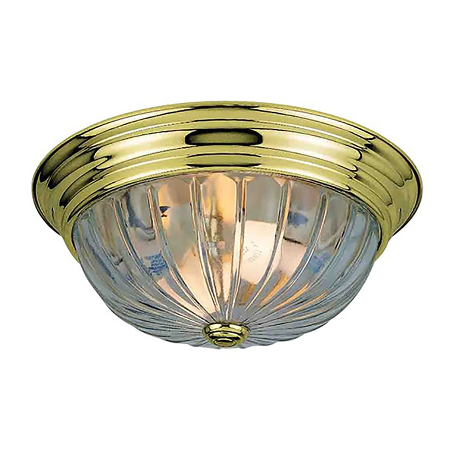 Creola 11-in W Polished Brass Flush Mount Light