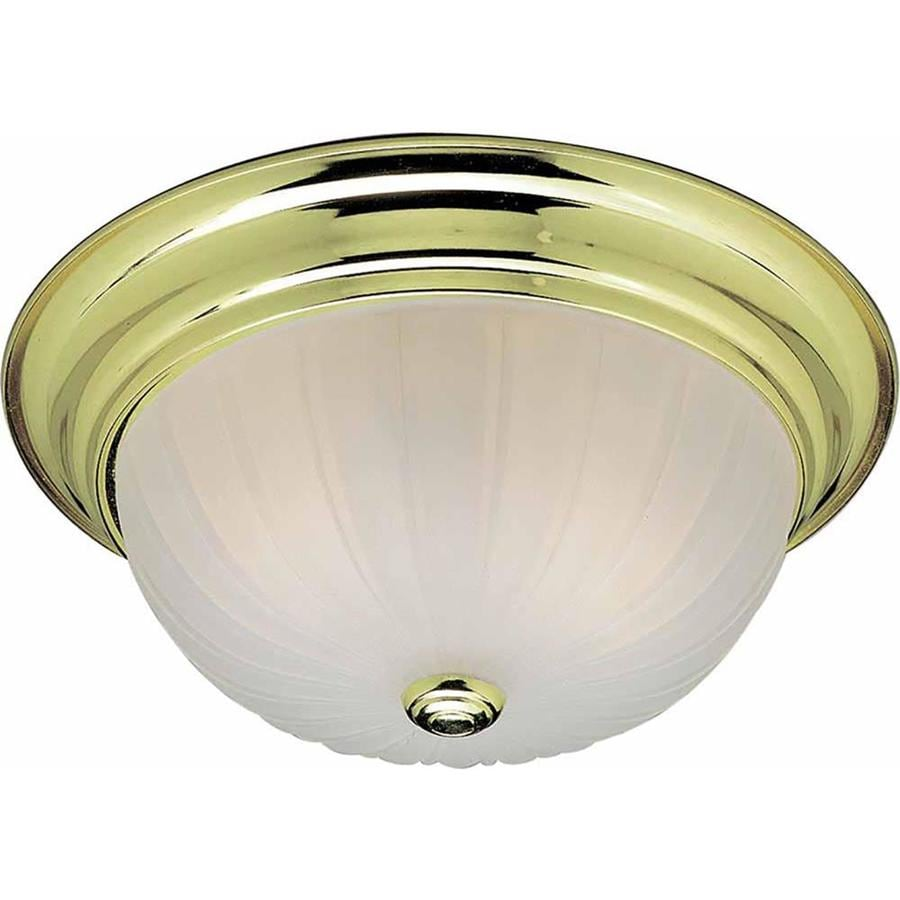 Milroy 13-in W Polished Brass Standard Flush Mount Light