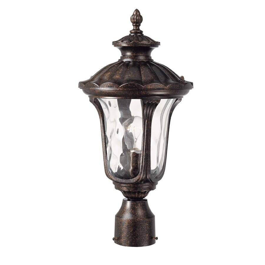 Manteno 19-in H Vintage Bronze Post Light